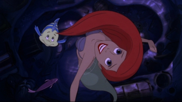 Ariel_singing_and_twirling_with_Flounder_next_to_her